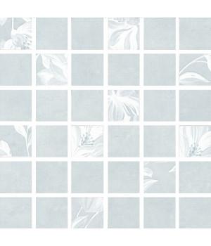 Каподимонте декор мозаичный голубой
